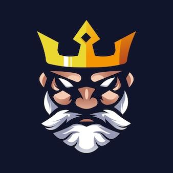 Vector de diseño de logotipo de rey