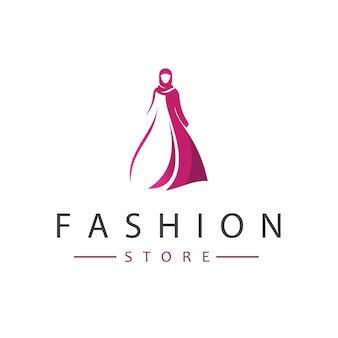 Vector de diseño de logotipo de tienda de moda
