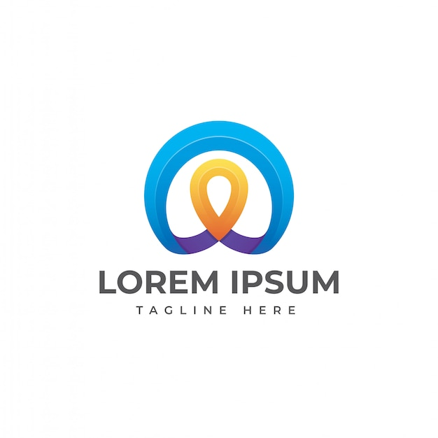 Vector de diseño de logotipo de ubicación de pin abstracto