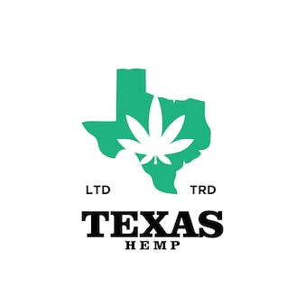 Vector de diseño de logotipo vintage premium de cannabis de texas