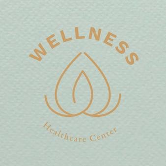 Vector de diseño de marca comercial de salud y bienestar de plantilla de logotipo de spa