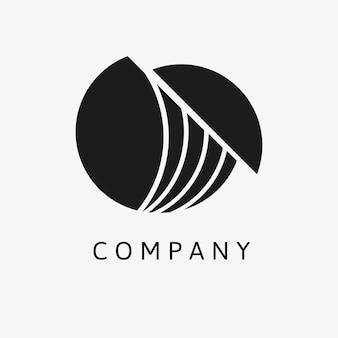 Vector de diseño de marca mínima de plantilla de logotipo de empresa