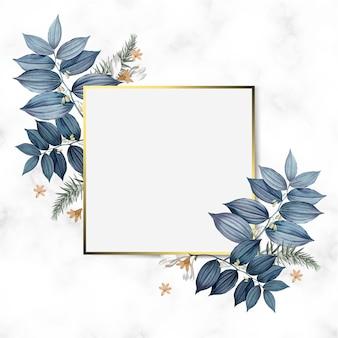 Vector de diseño de marco floral vacío