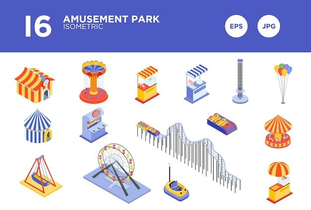 Vector de diseño de parque de atracciones