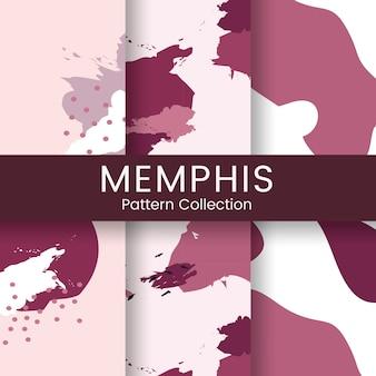 Vector de diseño de patrón de memphis rosa