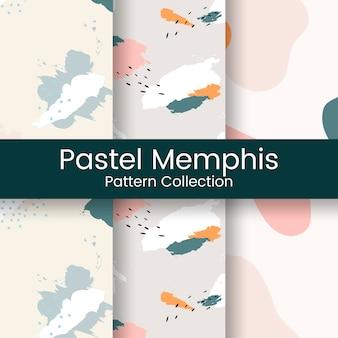 Vector de diseño de patrón de pastel memphis