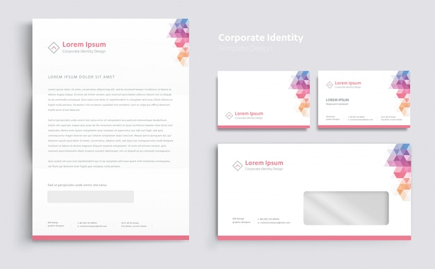 Vector de diseño de plantilla de identidad corporativa empresarial