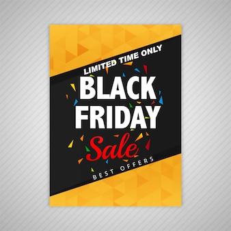Vector de diseño de plantilla de venta de viernes negro elegante