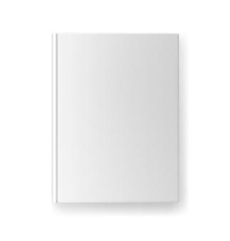 Vector diseño de portada de libro en blanco