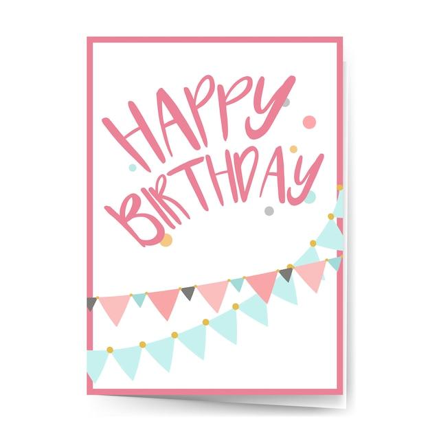 Vector de diseño de tarjeta de feliz cumpleaños