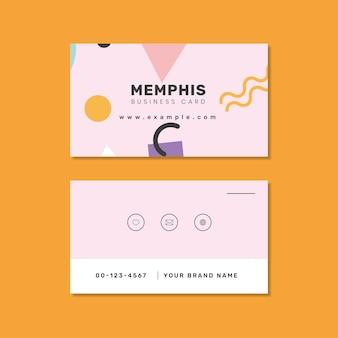 Vector de diseño de tarjeta de nombre de memphis