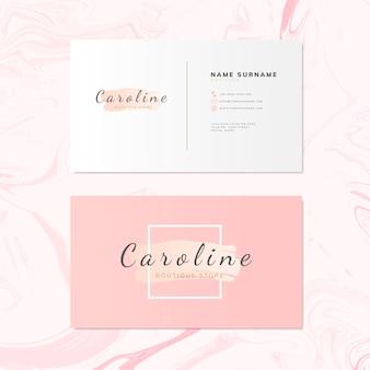 Vector de diseño de tarjeta de nombre de moda y belleza