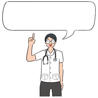Vector de doctor