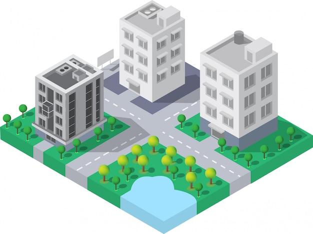 Vector de edificio isometrico
