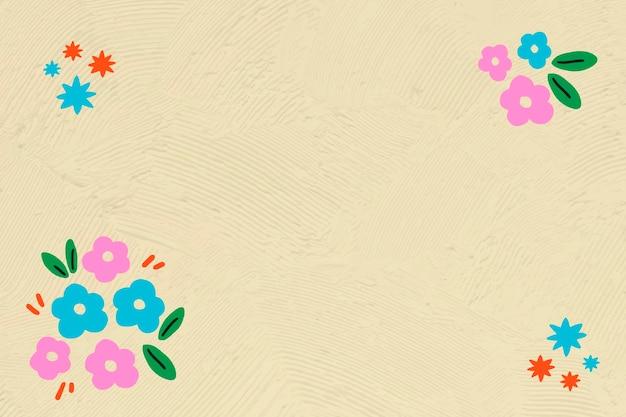 Vector editable de marco de borde de flor