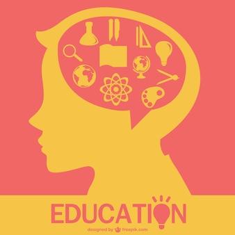 Vector educación infantil