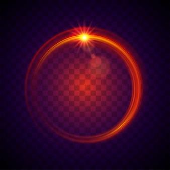 Vector de efecto de luz roja redondeada.