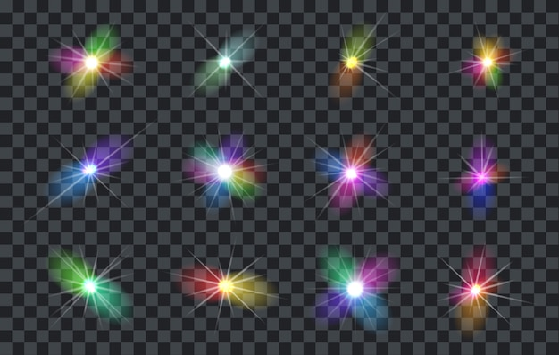 Vector efecto de luz spotlight aislado