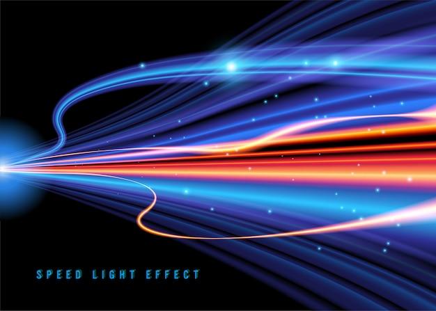Vector de efecto de luz de velocidad