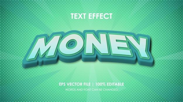 Vector de efecto de texto de dinero editable