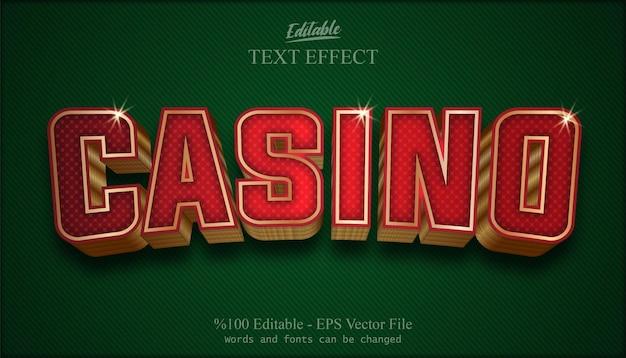 Vector de efecto de texto editable de casino