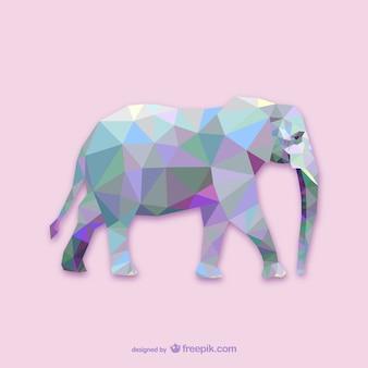 Vector elefante poligonal