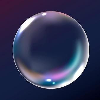 Vector de elemento de burbuja clara en fondo azul marino