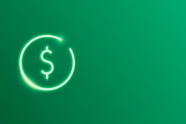Vector de elemento de diseño de criptomoneda verde