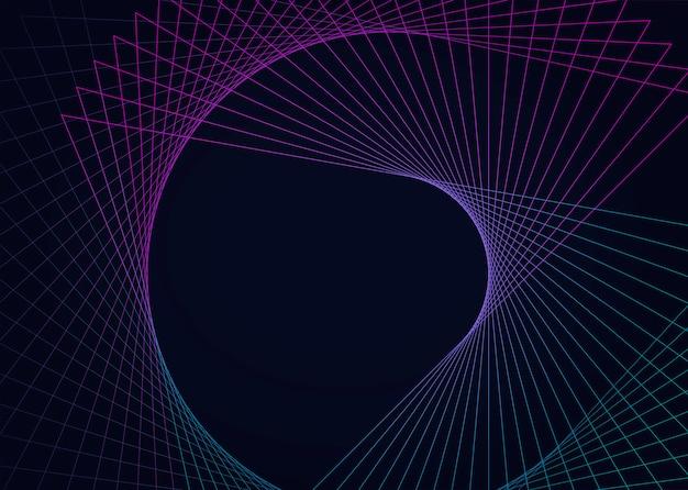 Vector de elemento geométrico circular abstracto