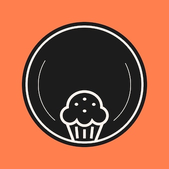 Vector de elemento de icono de panadería en color negro