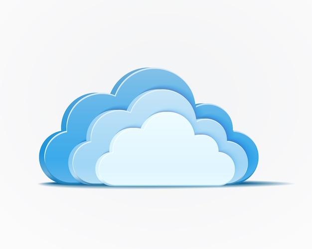Vector elemento de nubes azules