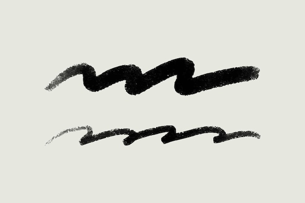 Vector de elemento de trazo de pincel negro