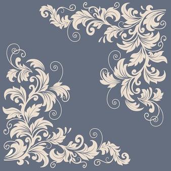 Vector elementos de diseño floral para la decoración de la página