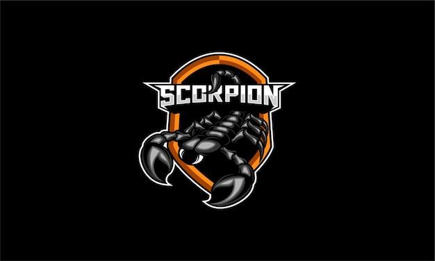 Vector de emblema de logo de escorpión