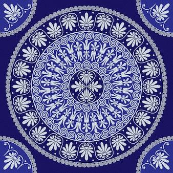 Vector encaje vintage ornamento griego (meandro)
