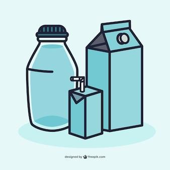 Vector envases de leche