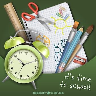 Vector es hora de ir al colegio