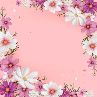 Vector de espacio en blanco floral
