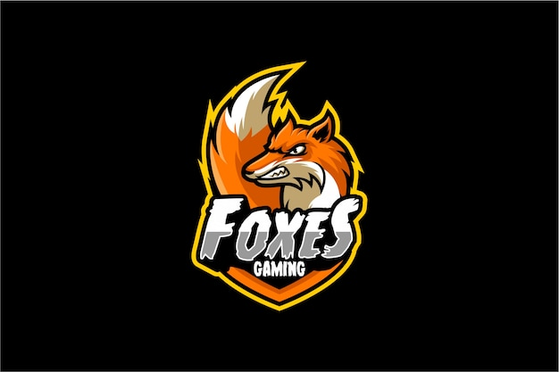 Vector de esport enojado fox