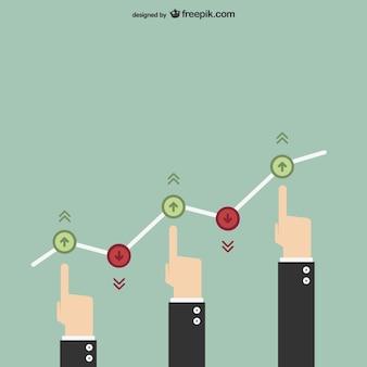 Vector estadísticas de negocios