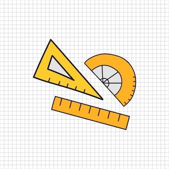 Vector de estilo de doodle de papelería