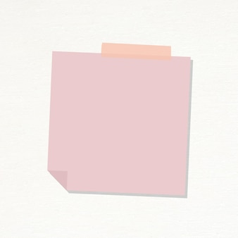 Vector de etiqueta de diario de papel de carta rosa pastel