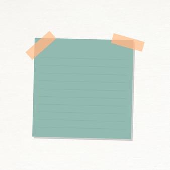 Vector de etiqueta de diario de papel rayado verde