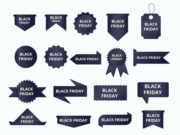 Vector de etiqueta y etiqueta de banner de venta de viernes negro