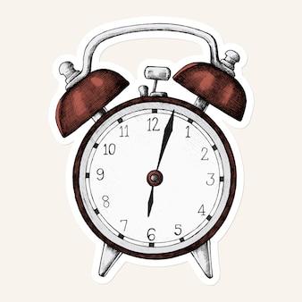 Vector de etiqueta de icono de reloj rojo
