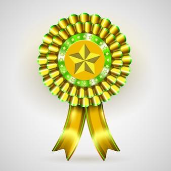 Vector etiqueta de premio de oro fresco