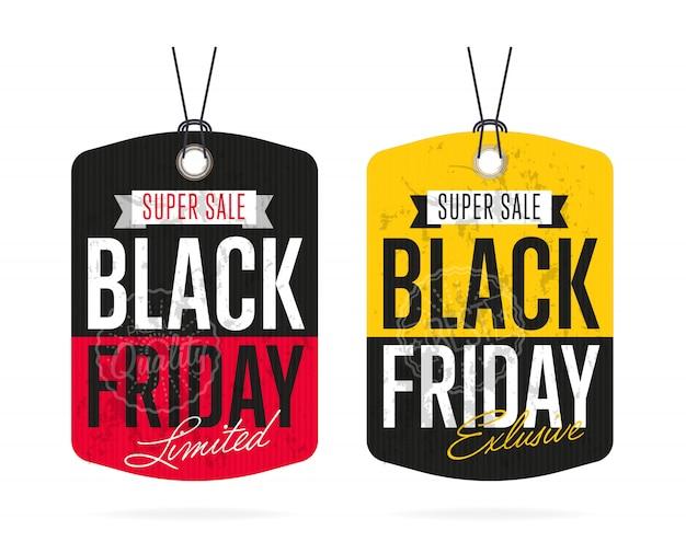 Vector de etiqueta de venta de viernes negro aislado