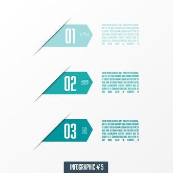 Vector flechas infografía