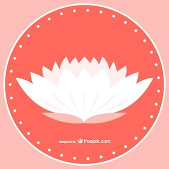 Vector flor de loto blanca