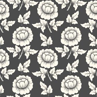 Vector flor de patrones sin fisuras